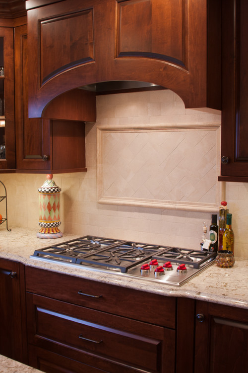 Cambria Windermere Dark Cabinets Backsplash Ideas