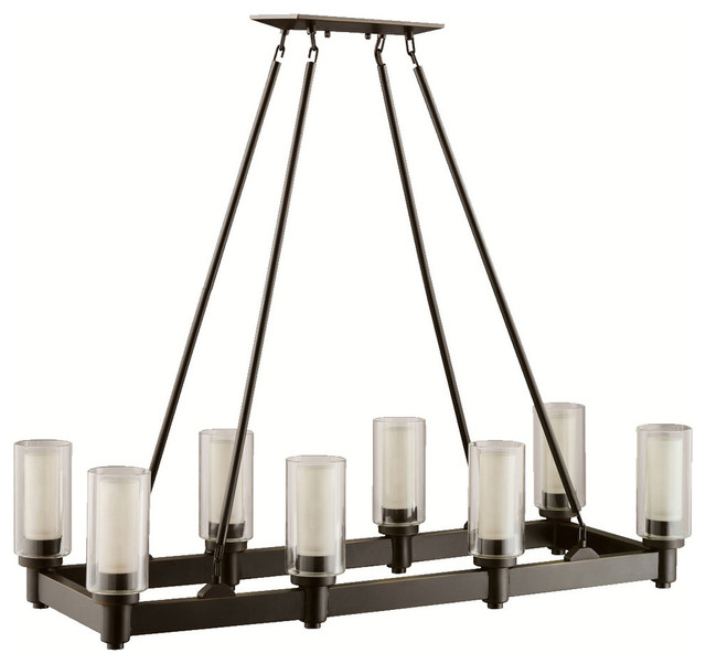 Kichler 8 Light Chandelier Olde Bronze Island Pool Table Traditional Po