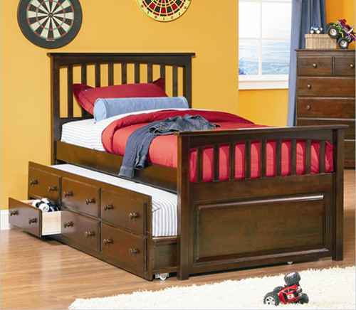Mates Storage Bed With 3 Drawer Trundle Bed