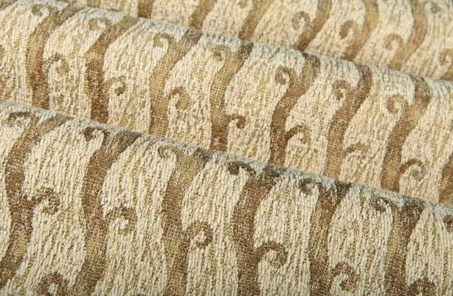 Crete Chenille Upholstery Fabric In Cream