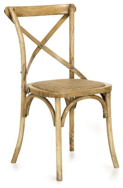 Xena chaise en bouleau massif et rotin moderne chaise for Chaise rotin moderne
