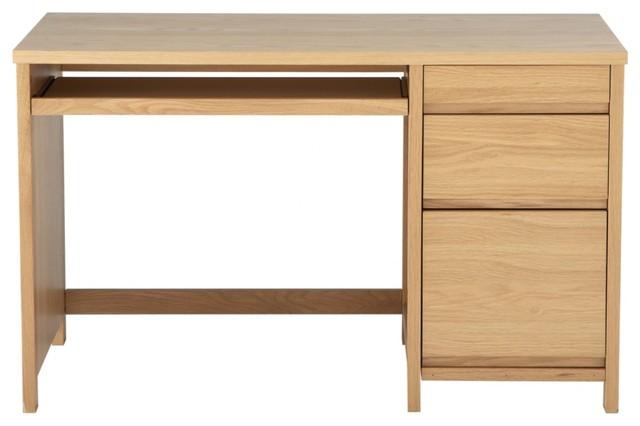 Premium Oak Veneered Home Office Desk Contemporary
