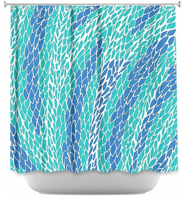 Shower Curtain Unique from DiaNoche Designs - Flying Feathers - Modern ...