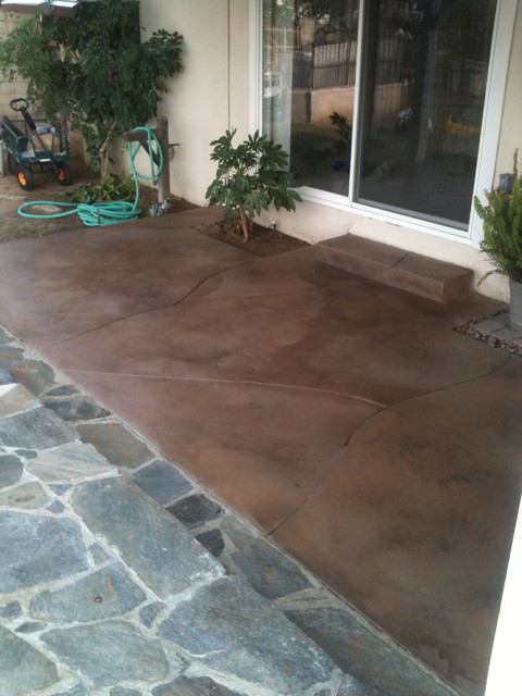 Stained concrete - Modern - los angeles - by Alex Ventura Masonry Inc.