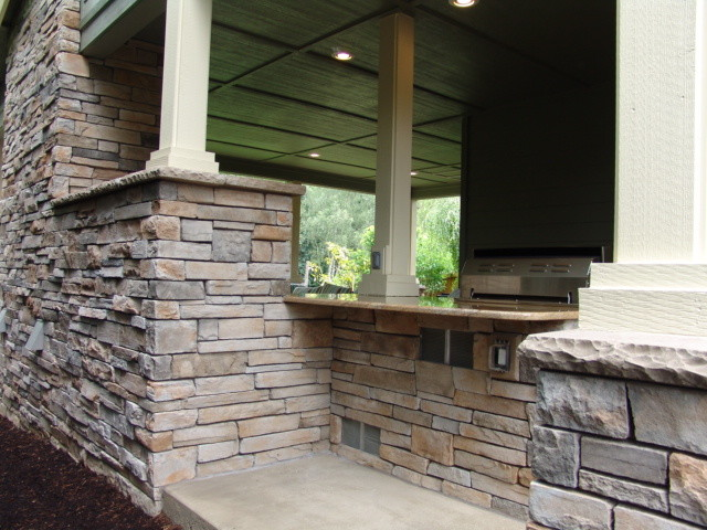 Outdoor Fireplaces Traditional Patio Portland By
