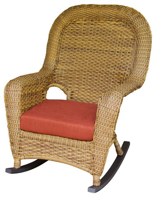 Lexington Rocker Java Montfleuri Sangria Tropical Outdoor Rocking Chair