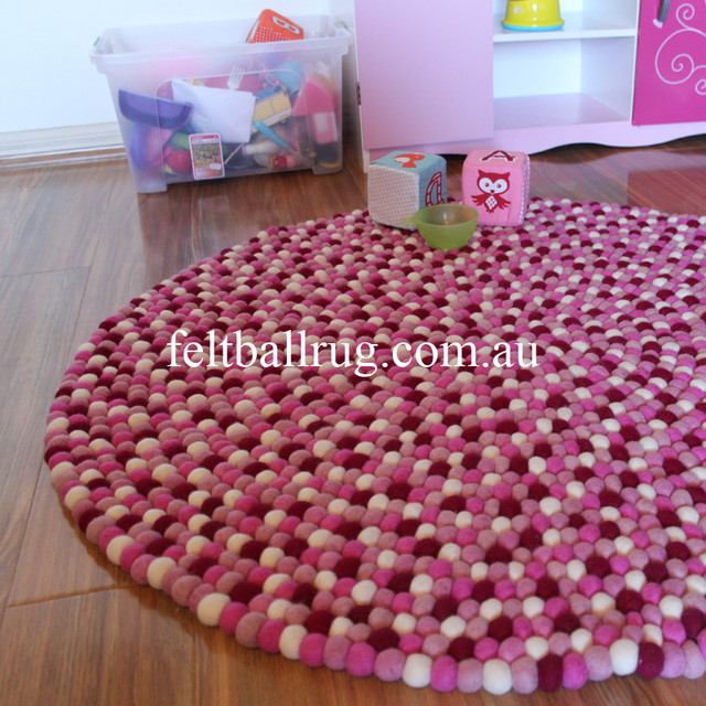Childrens Rugs Australia Sunshine Felt Ball Rug