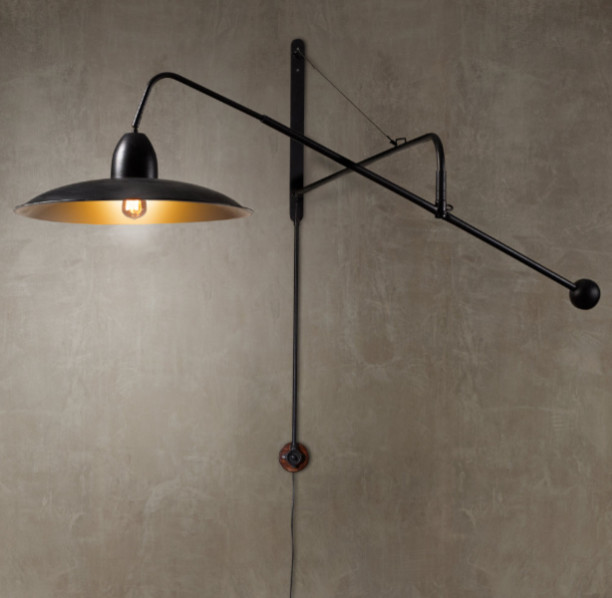 Wall Mounted Boom Lamp : 1940s Architect