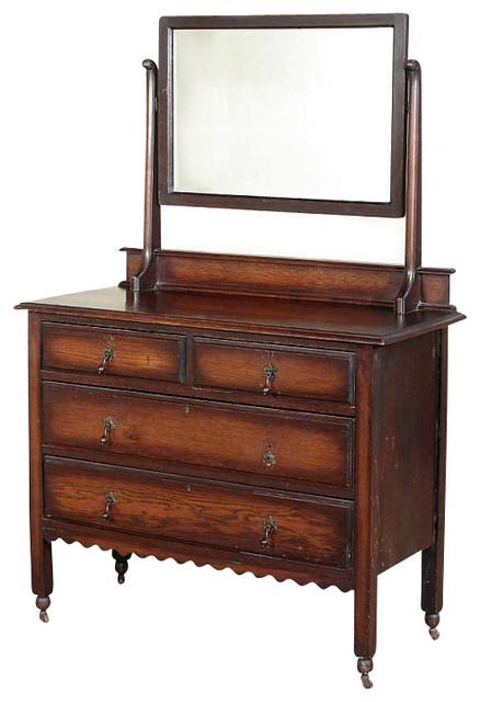 antique oak victorian dresser chest vanity mirror