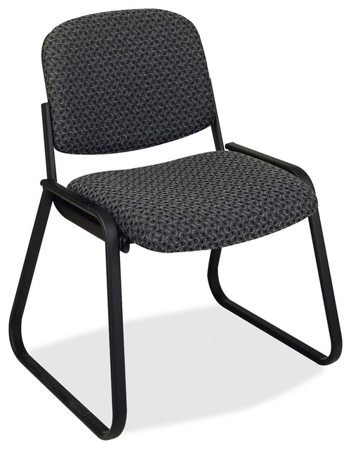 Office star deluxe sled base armless chair onyx seat contemporary office chairs by - Armless office chairs uk ...