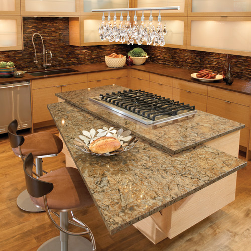 Buff colored cirrocumulus cambria buckingham for Buckingham kitchen cabinets