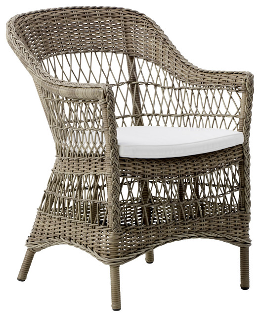 Charlot Chair With Cushion traditional outdoor dining chairs