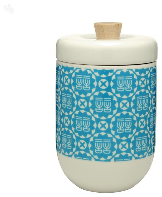 Blue And White Small Storage Canister