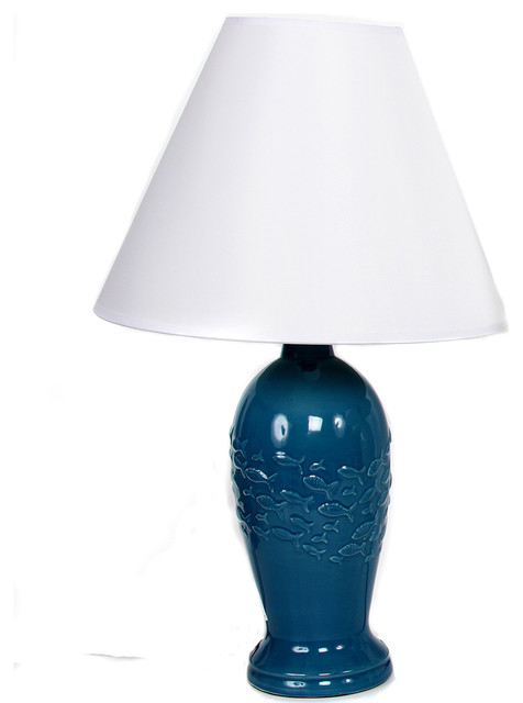 Embossed School Of Fish Lamp Beach Style Table Lamps By Dei