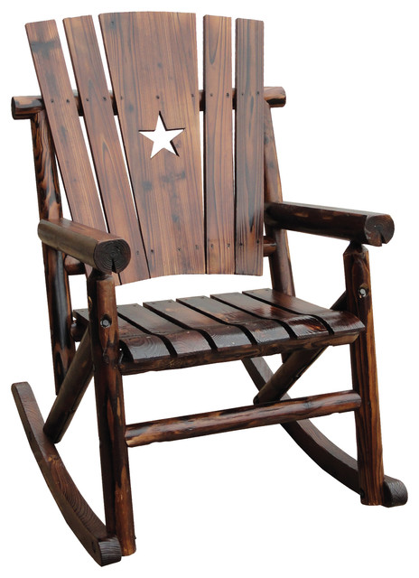 Char Log Star Rocker Southwestern Outdoor Rocking Chairs By Leigh Country