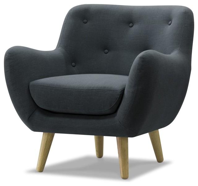 Poppy meuble fauteuil esprit seventies en tissu gris for Poltrone scandinave