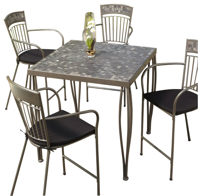 Home Styles Glen Rock Marble Top Square Outdoor Bistro