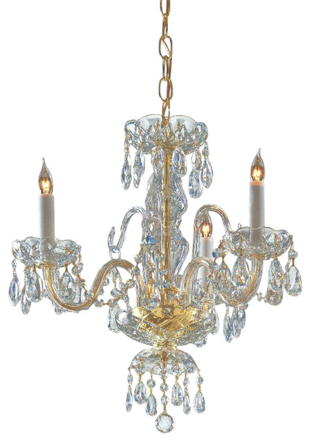 Crystorama traditional crystal 3 light spectra crystal brass mini chandelier traditional - Traditional crystal chandeliers ...