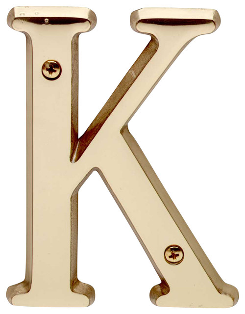 House Letter K Bright Solid Brass 4 Transitional House Numbers By The Renovator 39 S