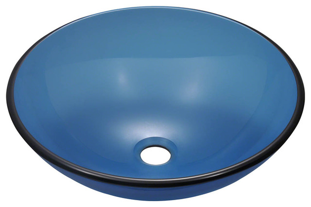 ... 601 Coloured Glass Vessel Sink, Aqua, Sink contemporary-bathroom-sinks