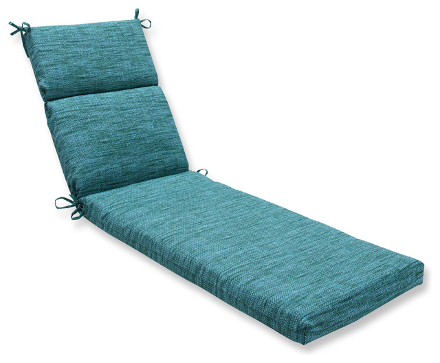 Remi lagoon chaise lounge cushion blue outdoor cushions for Blue chaise cushions