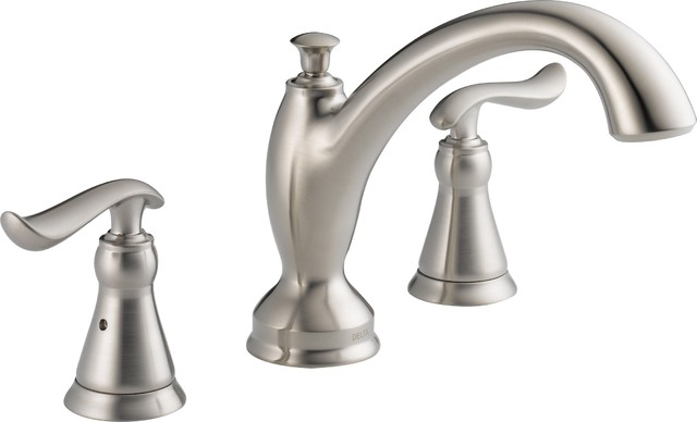 delta t2794 ss linden tub faucet trim in stainless traditional bathroom faucets and
