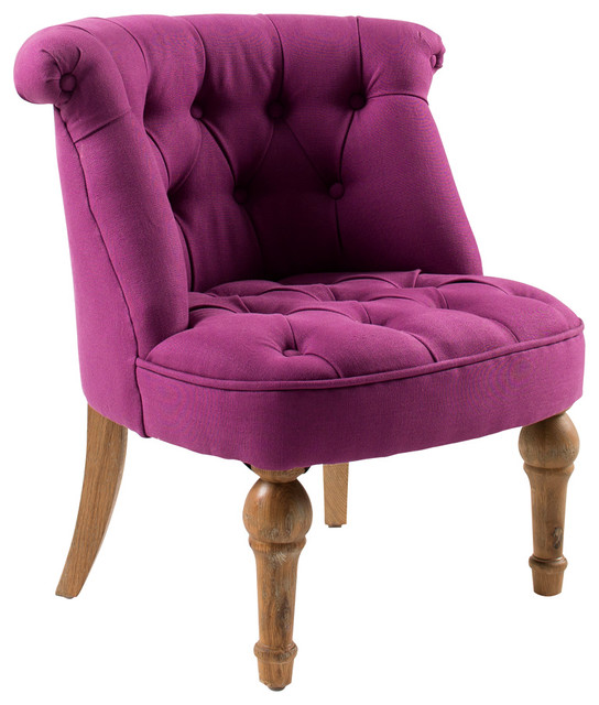 Tufted Tub Chair Purple Eclectic Armchairs And