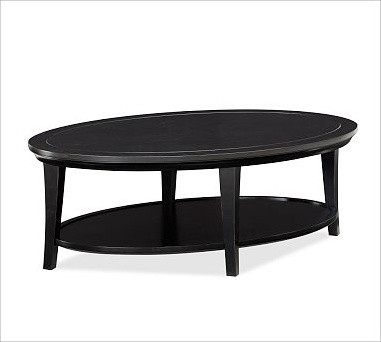 Metropolitan Oval Coffee Table Black Traditional Coffee Tables By Pottery Barn
