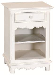 Chevet ouvert 1 tiroir moderne table de chevet et for Table de nuit moderne