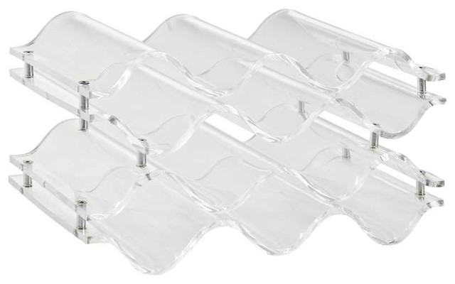 Reserve Wine Bottle Rack in Clear - Contemporary - Wine Racks - by ...