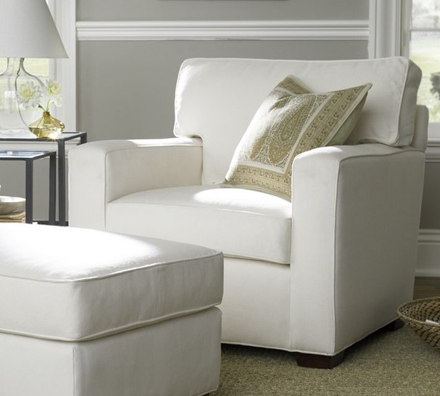 Pottery Barn Chairs Accent: PB Square Upholstered Armchair