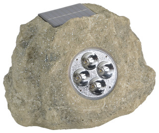Homebrite Solar-Powered Rock Spotlights, Set of 3