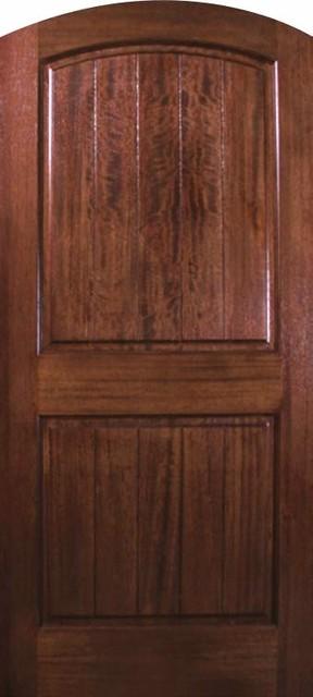 Slab house single door wood mahogany panel v grooved