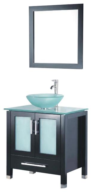 Adornus adrian 30 e g espresso vanity modern bathroom vanities and sink consoles by corbel - Moderne consoles ...