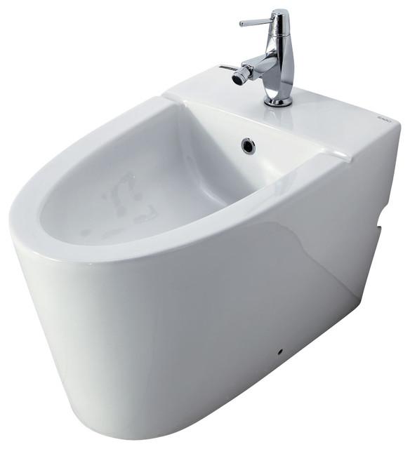 modern white ceramic bathroom bidet with elongated seat modern bidets by faucetmax. Black Bedroom Furniture Sets. Home Design Ideas