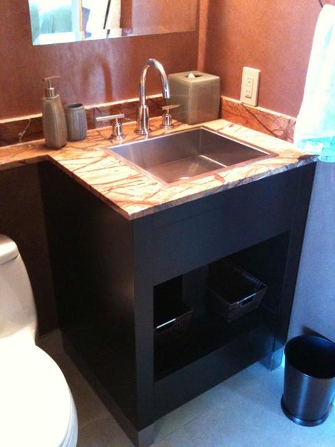 Bathroom vanity modern powder room miami by - Modern powder room vanity ...