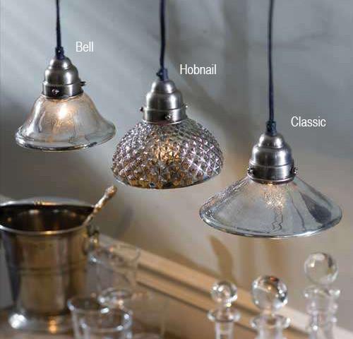 Mercury Glass Pendant Lamps Eclectic Pendant Lighting