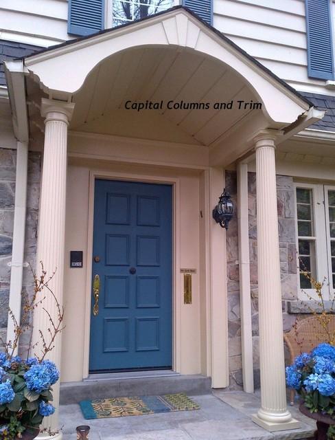 Fluted round fiberglass columns for Fluted fiberglass columns