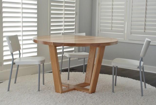 Angled Leg Round Table Modern Dining Tables Kansas