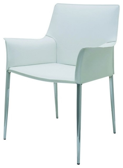Colter dining arm chair white modern dining chairs for White dining chairs with arms