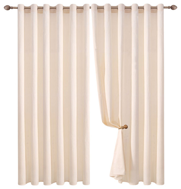 blackout panel ivory contemporary curtains by bed