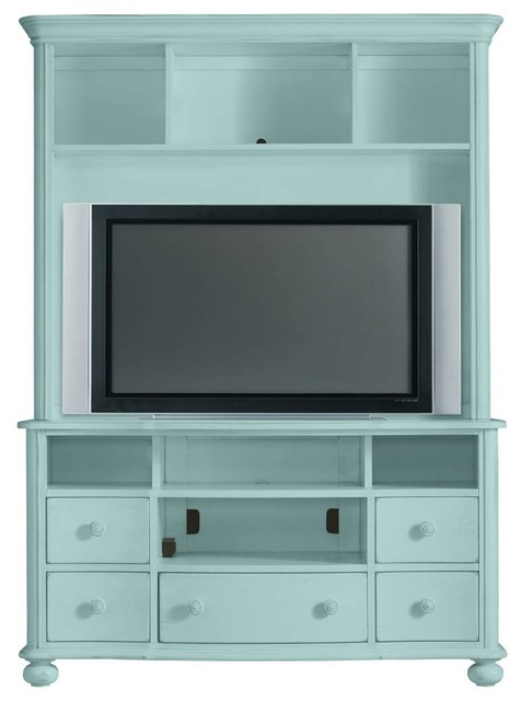 Coastal Living Cottage Plasma TV Bookcase - Beach Style - Entertainment Centers And Tv Stands ...