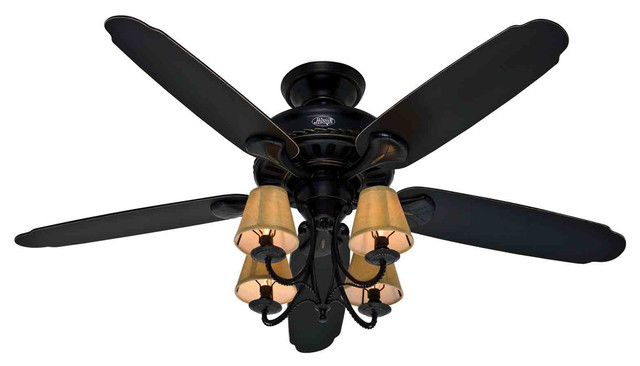 "Hunter Fan pany Cortland Basque Black 54"" Ceiling"
