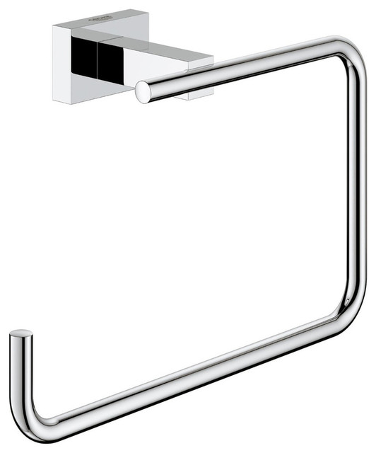 Grohe Essentials Cube Towel Ring Contemporary Towel Rings By Beyond Stores