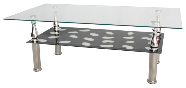 Tempered glass coffee table coffee tables by hodedah for Tempered glass coffee table