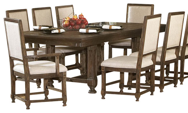 ardenwood 8 piece leg table dining room set traditional dining sets