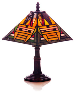 mission accent lamp arts crafts table lamps by river of goods. Black Bedroom Furniture Sets. Home Design Ideas