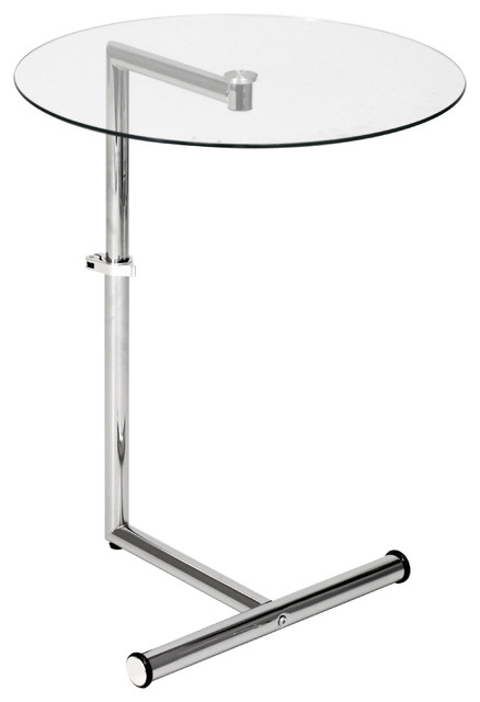 Simplicity Side Table Adjustable Height Contemporary