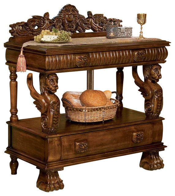 Lord Raffles Lion Buffet Table - Victorian - Buffets And Sideboards ...