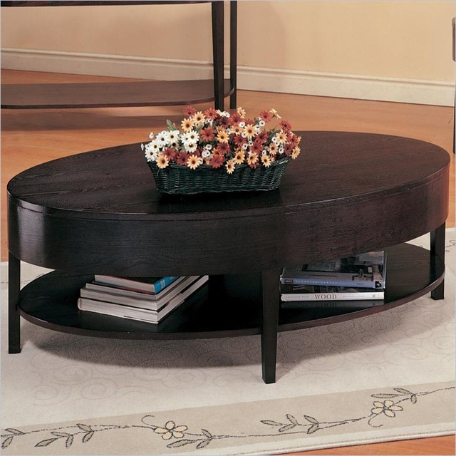 Coaster Gough Oval Coffee Table With Shelf